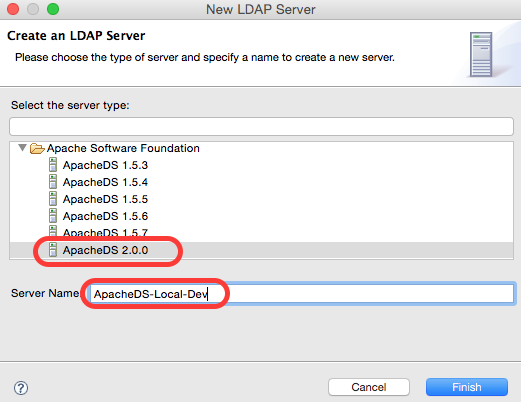 Create New LDAP Server